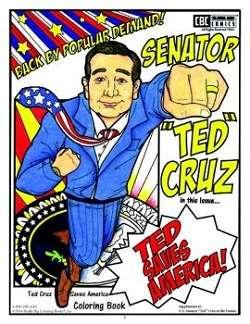 Ted Cruz coloring book