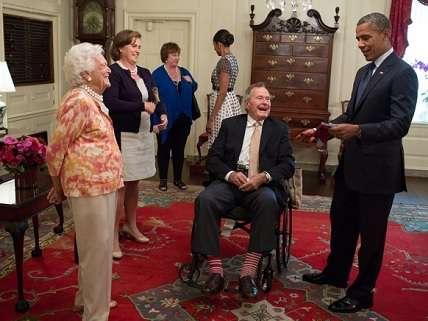 George H.W. Bush with Barack Obama