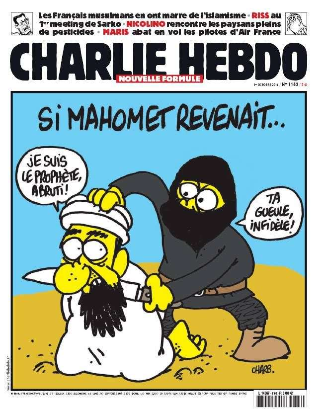 Cover showing ISIS decapitating Mohammed