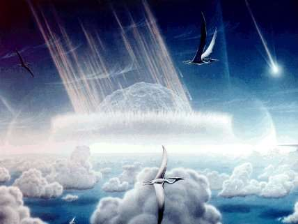 Meteor on dinosaurs