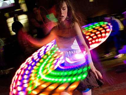 Girl dancing at rave