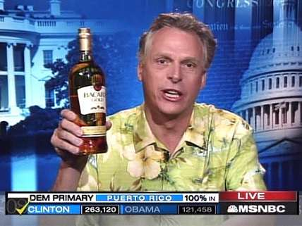 Terry McAuliffe celebrating Clinton win in Puerto Rico