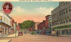 A postcard of old Fulton, NY from Tom Tryniski's website.