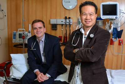 Snap Health co-founders Dr. Christopher Langan and Dr. David Wong (Photo Credit: Brad Ottosen)