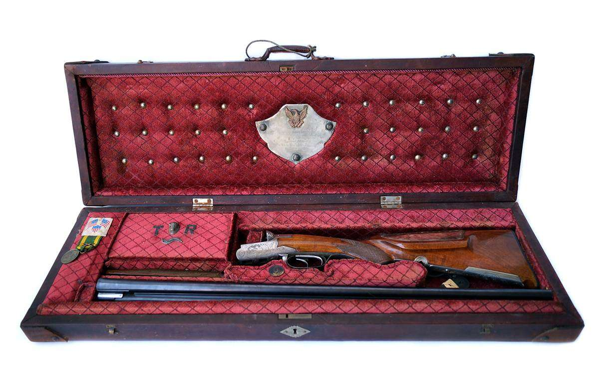 Theodore Roosevelt Cased Drilling Gun Set ||| Guernsey's Auction House