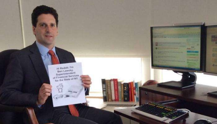 Benjamin Lawsky on Reddit |||