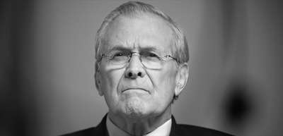 Donald Rumsfeld in THE UNKOWN KNOWN ||| credit: Nubar Alexanian.
