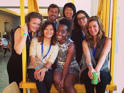 Members of Peers at last week's conference ||| Instagram photo by Natalie Foster