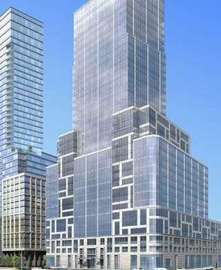 """A rendering of 40 Riverside Boulevard, home to New York City's """"poor door.""""    """