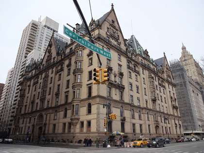 The Dakota, a luxury apartment building on Manhattan's Upper West Side, once had many rent-controlled apartments. |||