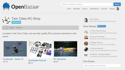 A screenshot of the OpenBazaar Platform |||