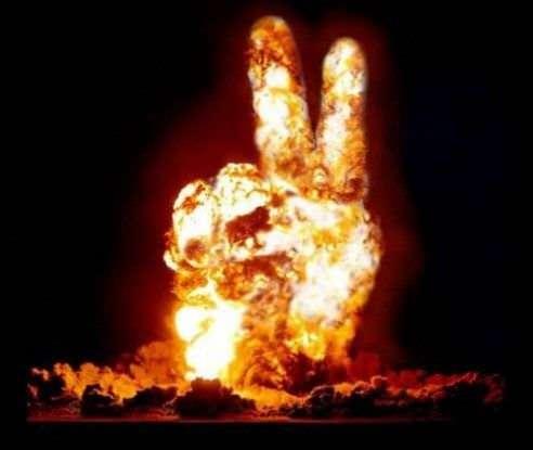 Peace is da bomb.