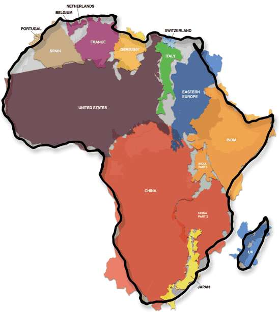 Africa: actually a big place.