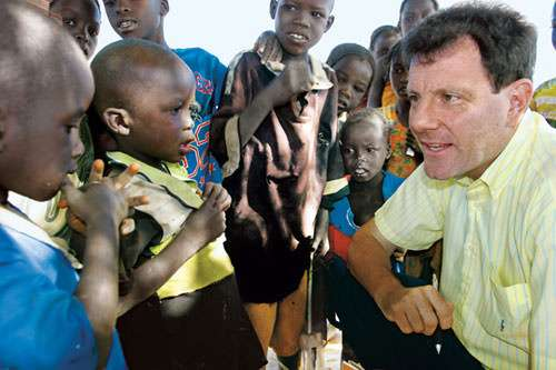 """""""Five more minutes, Mr. Kristof. Then the crew from GOOD MORNING, AMERICA will be here."""""""