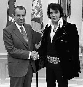 YOU SEE? ELVIS WAS WORKING WITH THE PRESIDENT ALL ALONG!