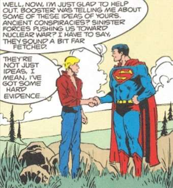 Superman is skeptical.