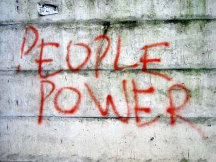 Power to the people, right on.