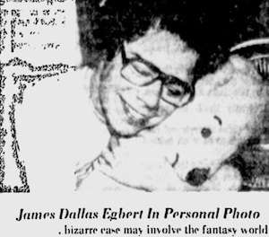 From the Sarasota Herald-Tribune, September 15, 1979. At this point it was clear that Edgbert's disappearance was not related to the role-playing game, but the paper used that caption anyway.