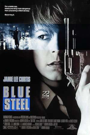 Early Kathryn Bigelow. Basically a slasher movie, which may be why they cast Jamie Lee Curtis in it.