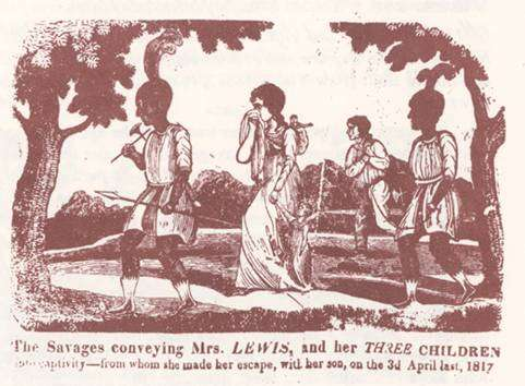 """Narrative of the captivity and sufferings of Mrs. Hannah Lewis, and her three children, who were taken prisoners by the Indians, near St. Louis, on the 25th May, 1815, and among whom they experienced all the cruel treatment which savage brutality could inflict"""