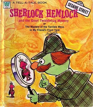 Sherlock Hemlock and the Case of the Image Appearing on His Magnifying Glass at the Wrong Angle