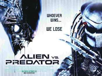 """It's gonna be a great movie. We had Trump design the alien and we had Clinton design the predator."""