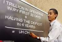 To his credit, he's talking a SPENDING freeze, not a deficit cut