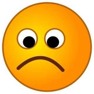 I'm sad. And unhappy.