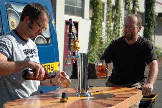 White dudes. Goatees. Craft brew. Oregon!