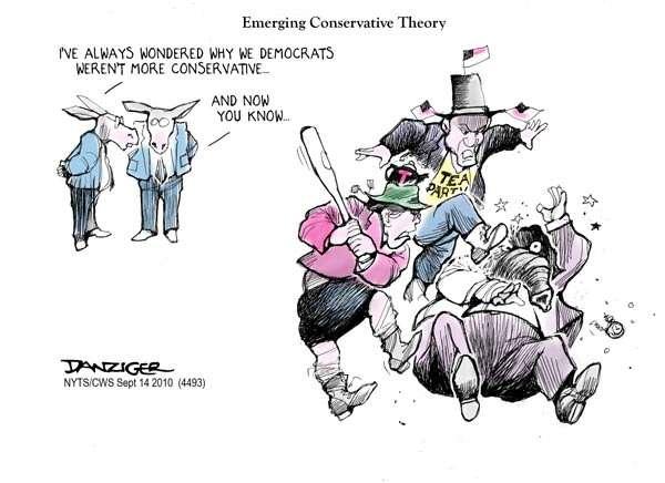 Because conservativism = gang-stomping