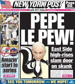 My French wife loves the New York Post