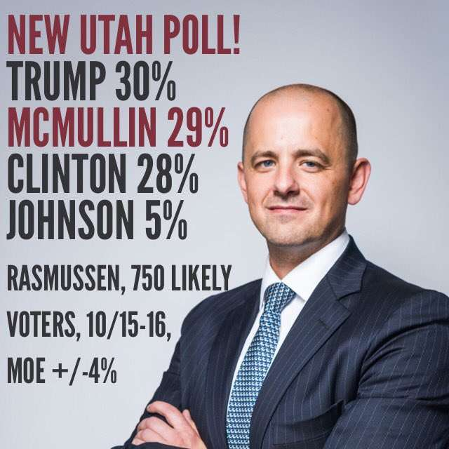 They're pumped in Provo.     Evan McMullin campaign