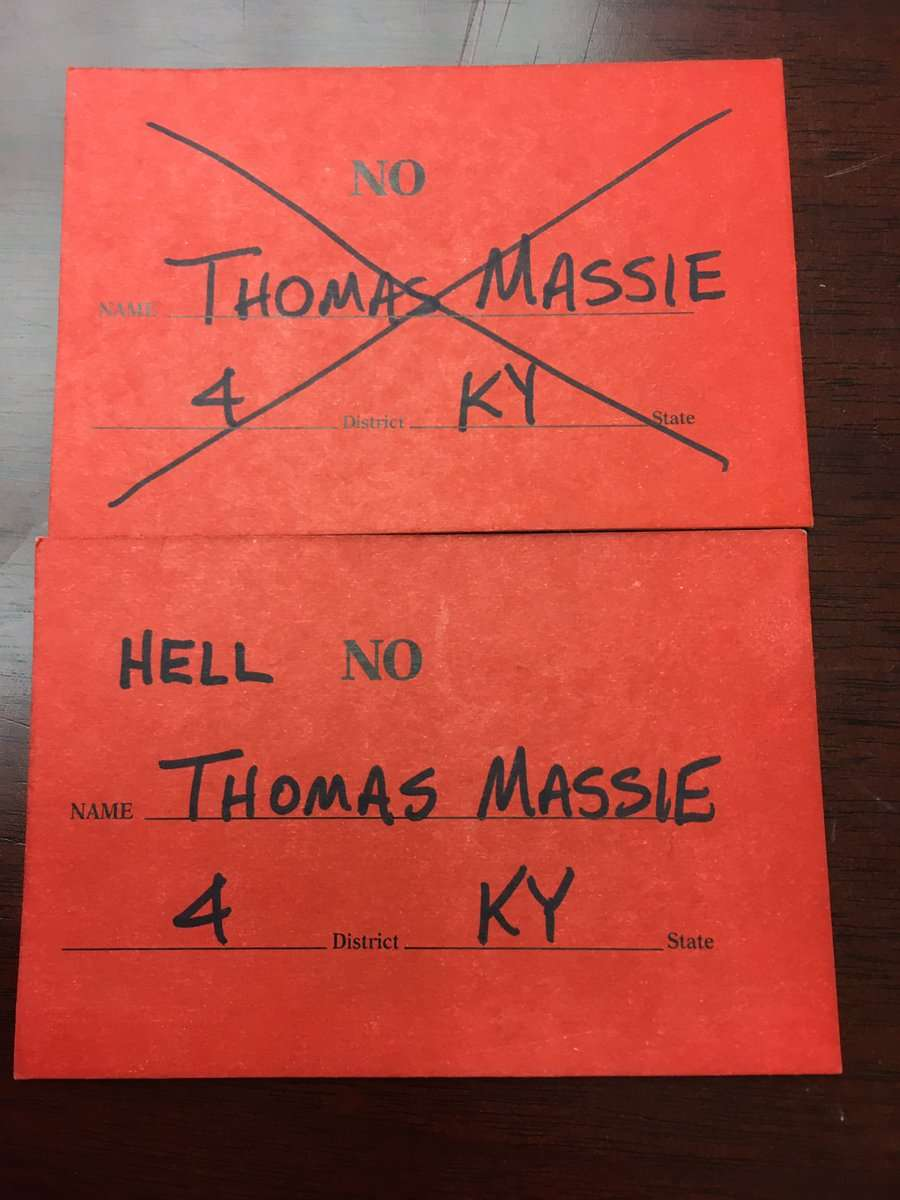 The man does not lack a sense of humor. ||| Rep. Thomas Massie