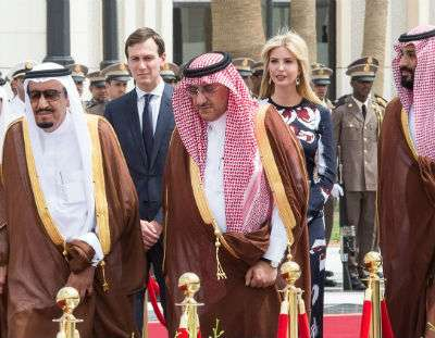 Jared Kushner and Ivanka Trump in Saudi Arabia ||| Balkis Press/ABACA/Newscom