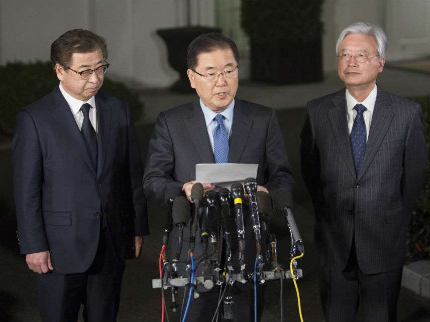 South Korea's national security director Chung Eui-yong ||| Chris Kleponis/SIPA/Newscom
