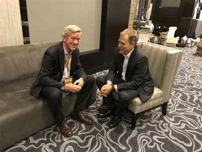 Bill Weld and 2016 Gary Johnson campaign honcho Ron Nielson ||| Matt Welch