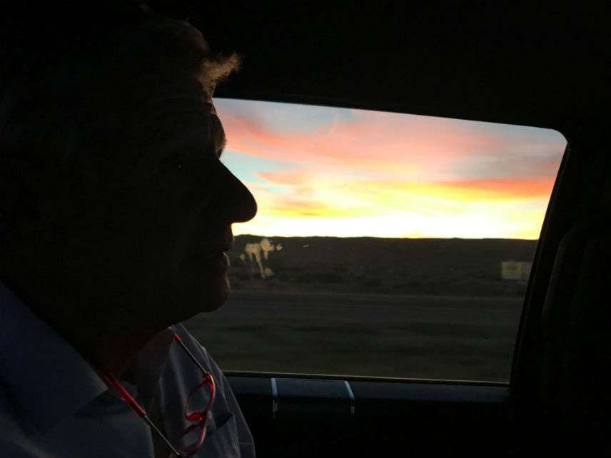 Gary Johnson, sunset. ||| Matt Welch