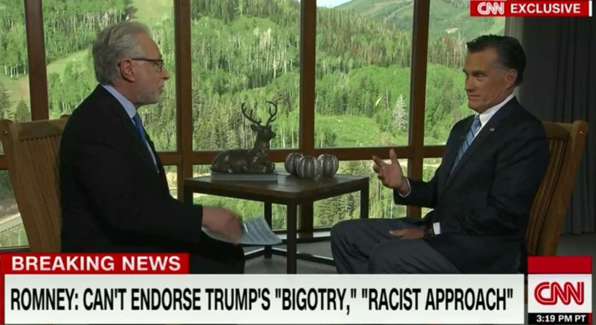 Mitt Romney & Wolf Blitzer