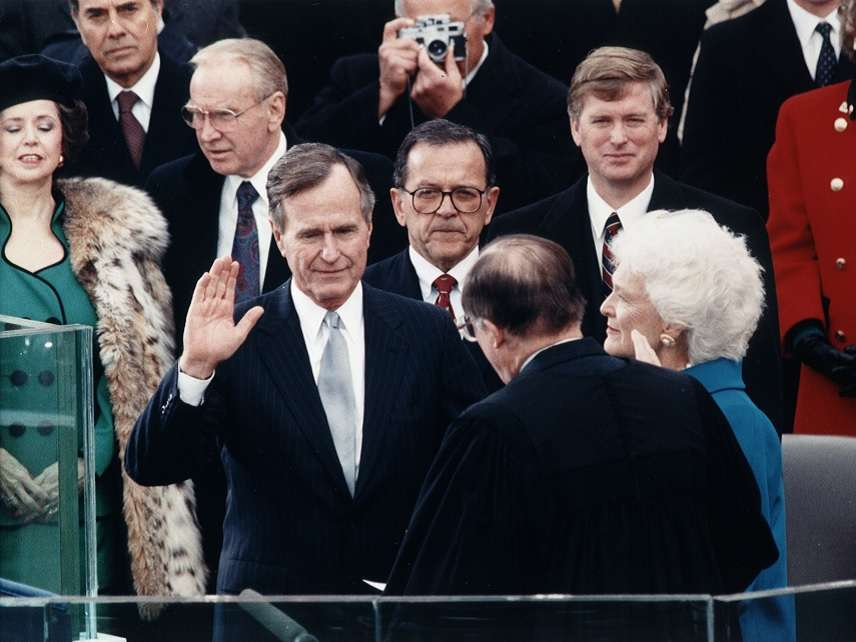 George H W  Bush's Legacy Holds Little, Nothing for Libertarians To