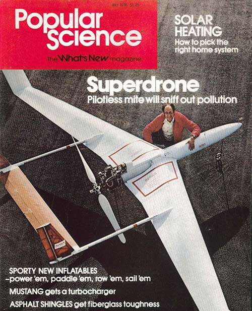 """Popular Science magazine wrote about a """"Superdrone"""" that could """"sniff out pollution."""