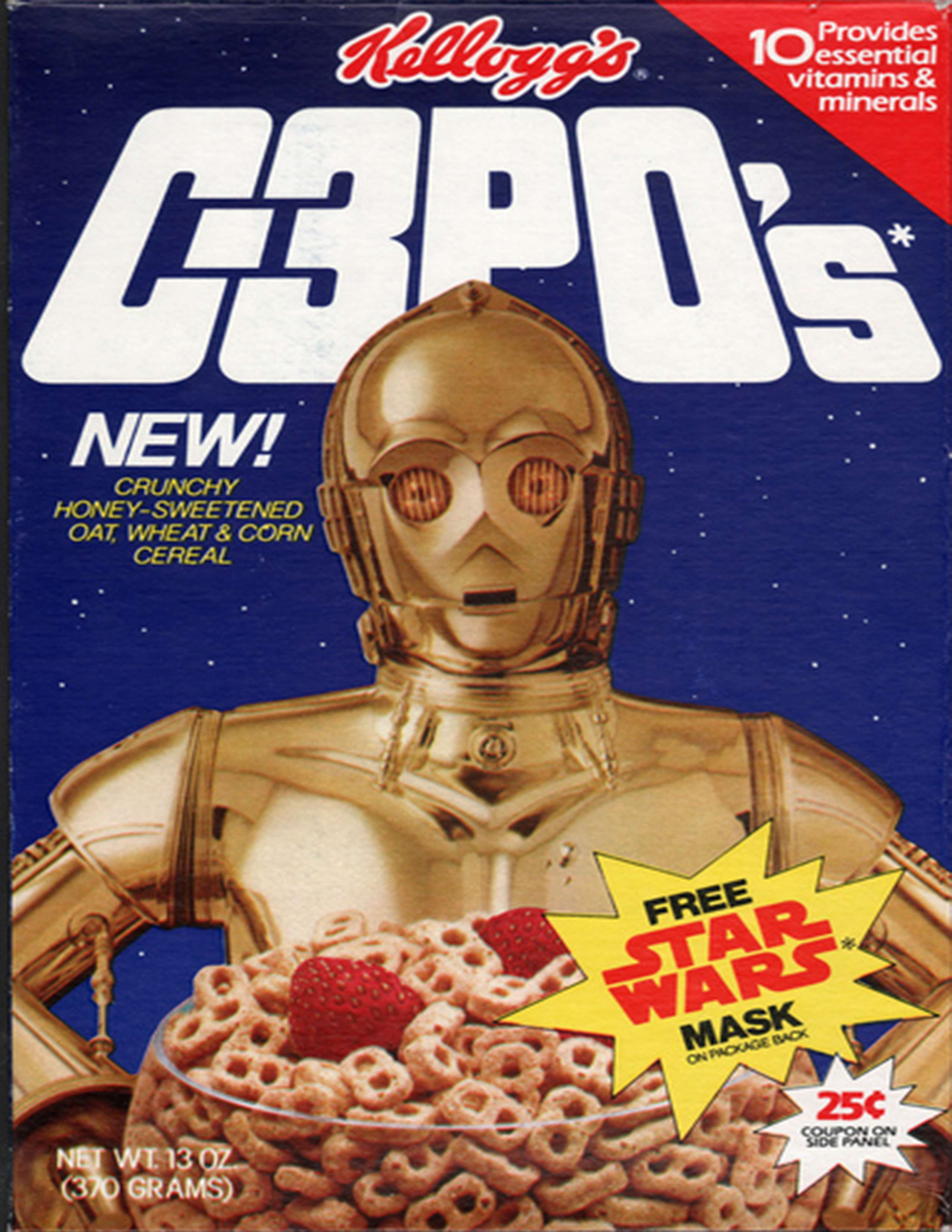 C3P0 cereal from Kellogg's.