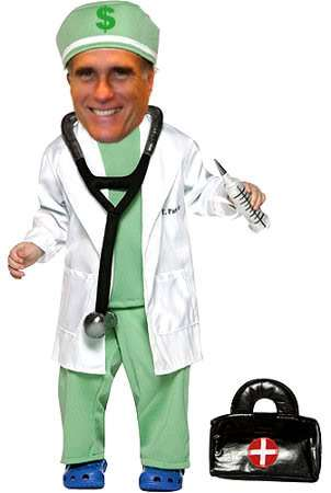 Mitt Romney prepares for his guest appearance on General Hospital.