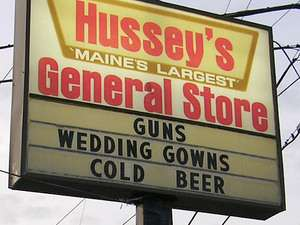 Things people in Maine actually buy.
