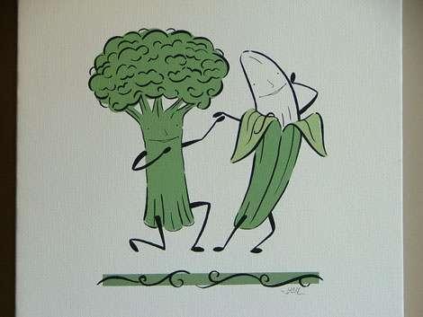 Broccoli romance… bro-mance?