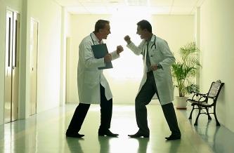Rock 'em, sock 'em doctors.