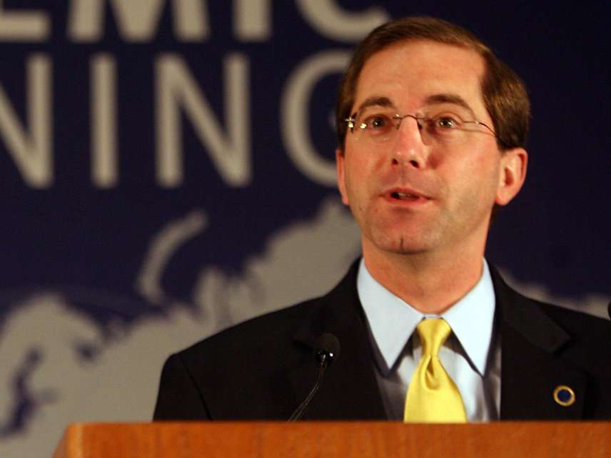 Alex Azar speaks at a conference in 2006.