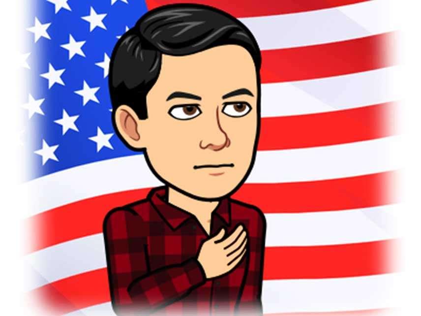 Scott Walker's Anthem-Flag Bitmoji Is Republicanism Under Donald