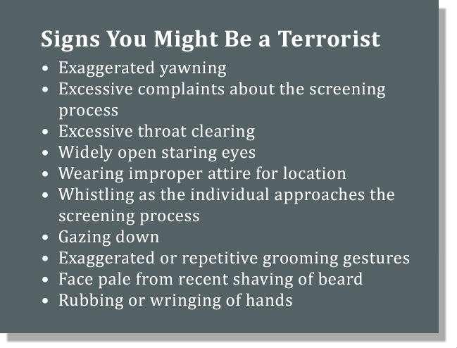 Terrorist Sign
