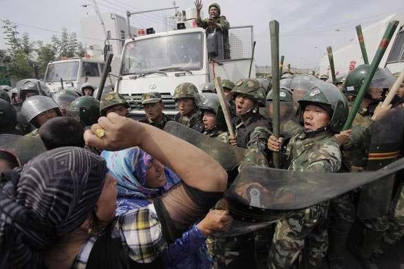 Fighting The Man in Urumqi.