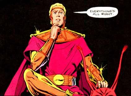 "Adrian ""Ozymandias"" Veidt, drawn by unsung Watchmen co-creator Dave Gibbons."